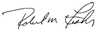 Signature of Robert M. Fisher